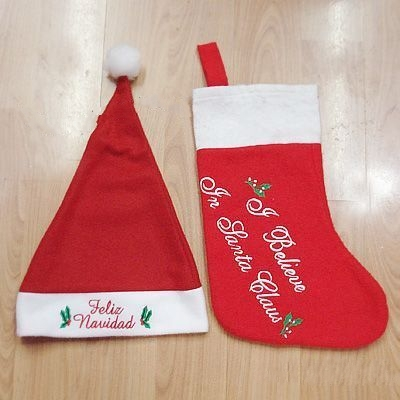 Christmas hat and stocking