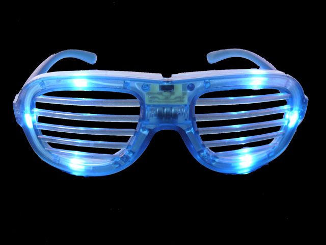 LED Shutter Shades Glasses(Blue)