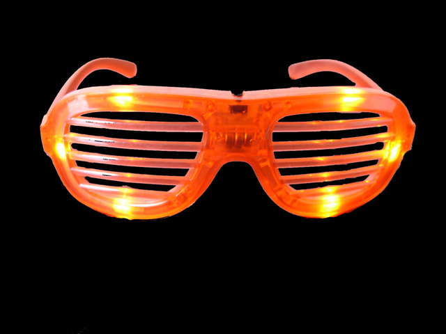 LED Shutter Shades Glasses(Red)
