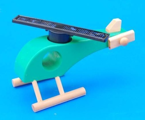Solar Toy Helicopter-wood