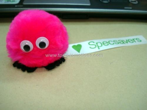 Pompom fuzzy creature