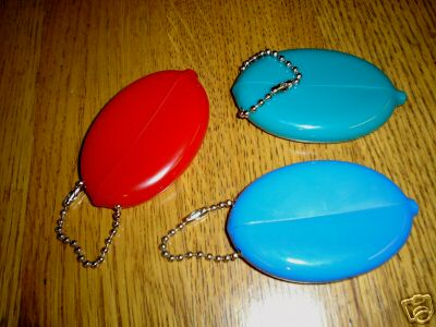 oval shape plastic squeeze coin holder