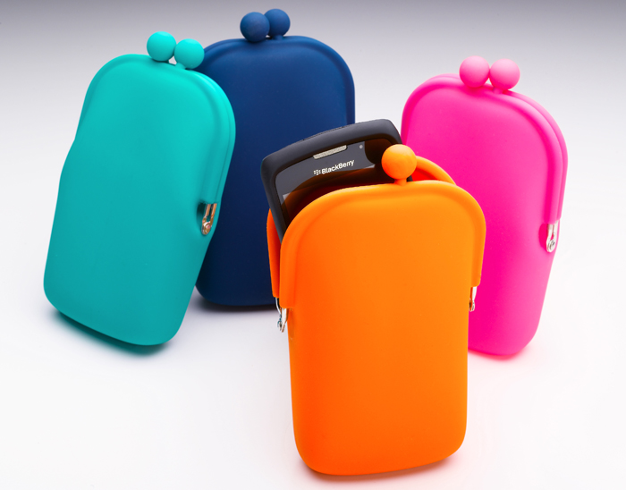 Silicone Pouch wallet for Phone and coin holder