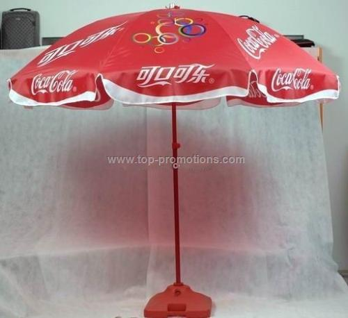 Coca cola beach umbrella
