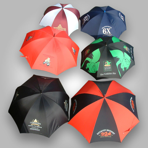 Coloured Golf Umbrellas