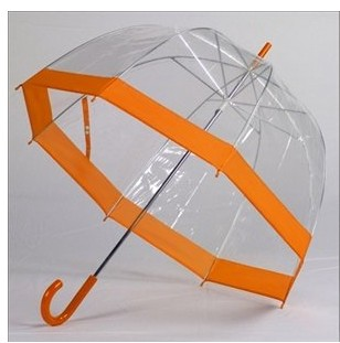 19 is  reinforced J-shape clear dome apollo umbrella