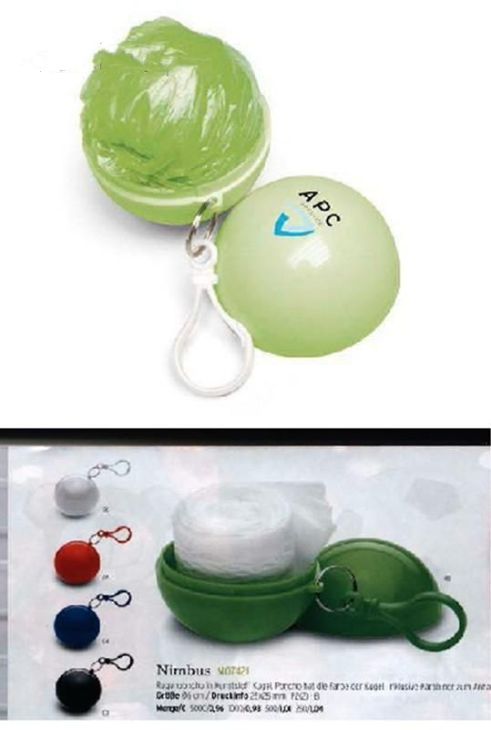 Golf Ball Design Rain Poncho Holder