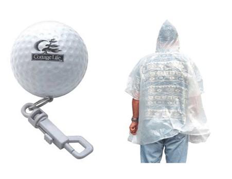 Golf Rain Poncho Ball