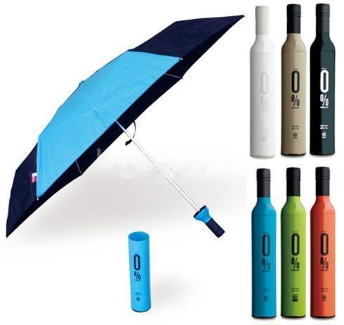 Promotional Wine bottle Umbrella gift items with custom logo