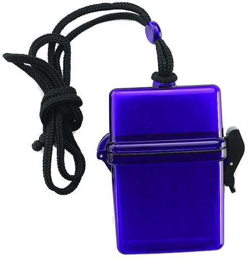 Square beach safe with lanyard