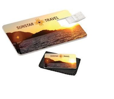 2GB Credit Card USB Drive