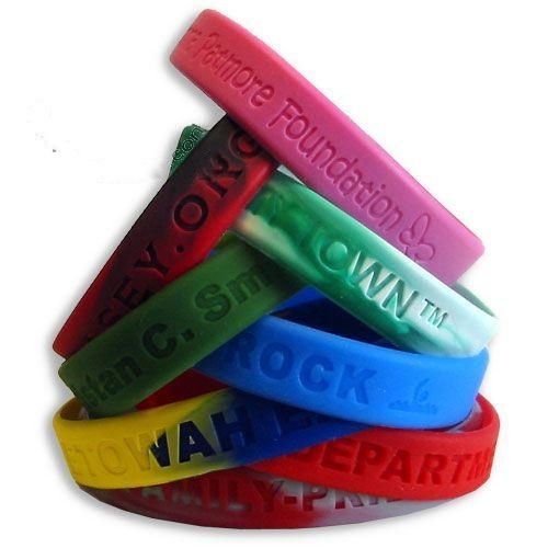 Debossed Silicone Wristband Bracelets - RUSH