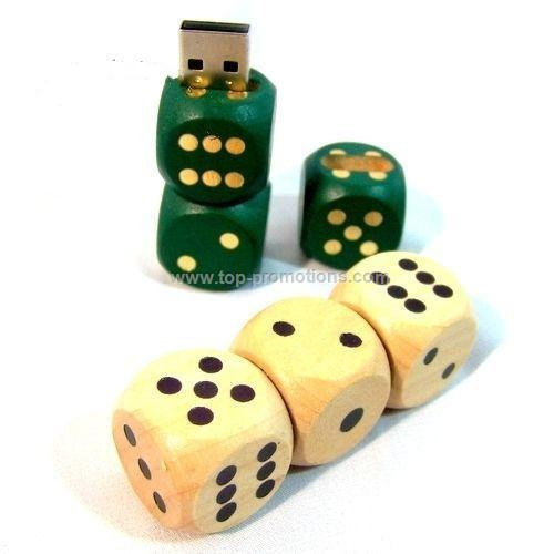 Wooden Dice USB Drive