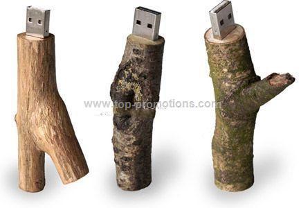 wood USB drive