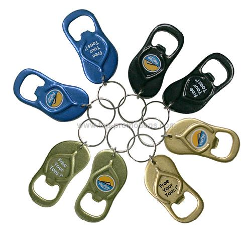 Flip Flop Bottle Opener Key Chain