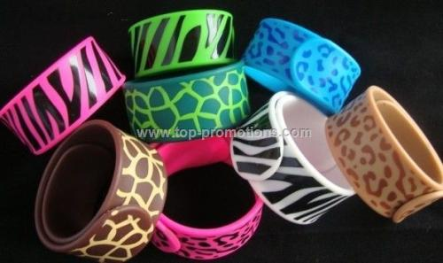 Fashion Silicone Rubber Slap Bracelet