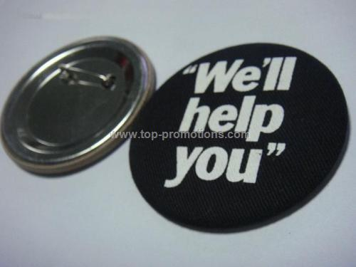 Cloth cover tin button Badge