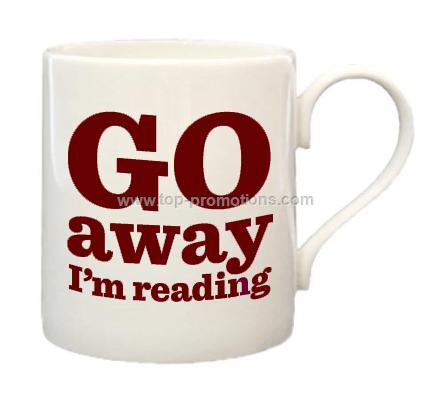 Go Away I is m Reading Bone China Mug