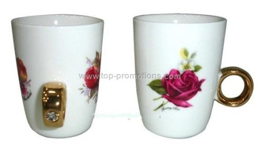 Ceramic Couple Rings Cup