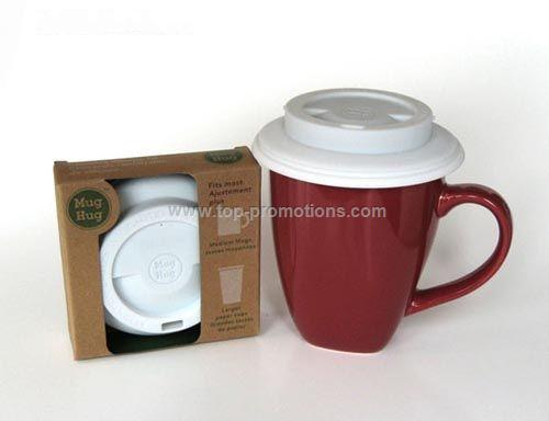 Ceramic mug with Silicon lid