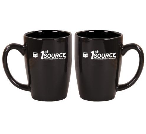 14 oz. ceramic mug.