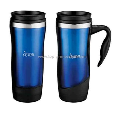 Swerve Acrylic mug with stainless steel liner 14 o