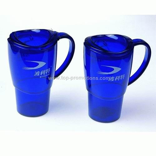 Asymmetrical acrylic mugs