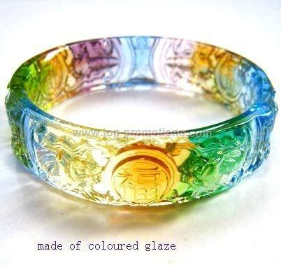 coloured glaze bracelets
