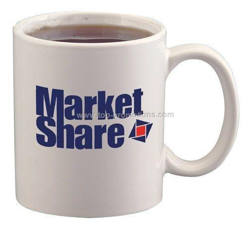 11 oz Ceramic Coffee Mug 2 Color Imprint Available