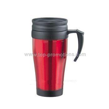 Customised logo Plastic Travel Mug