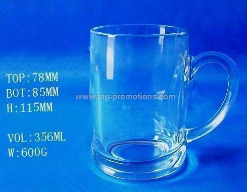 Glass beer mug/cup