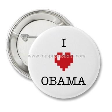 Obama button badges