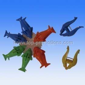 Plastic dolphin clips