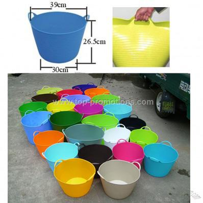 Collect buckets,flexible storage tubs 25 L colorfu