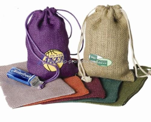 Jute Burlap Drawstring Bags