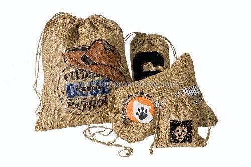 RUSTLER Rough Burlap Drawstring Bags
