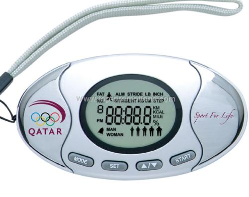 2in1 pedometer with fat analyzer