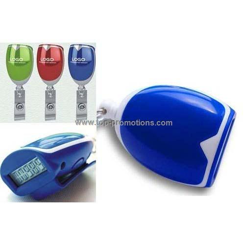 Pedometer with ID holder