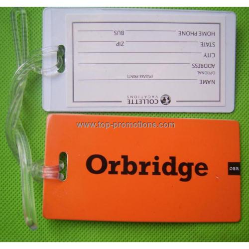 Rigid PVC Luggage Tags