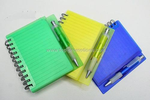 Spiral Note book with pen