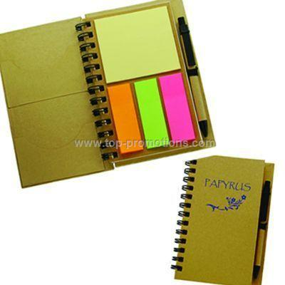 Large recycled paper notebook