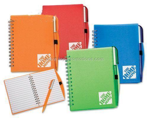 5 x 7 Spiral Notebook Journal w- Penport