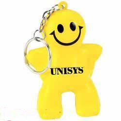 Smiley Man Key Chain Stress Ball