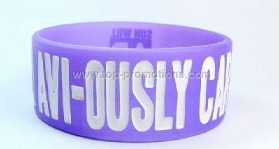 silicone closed bracelet