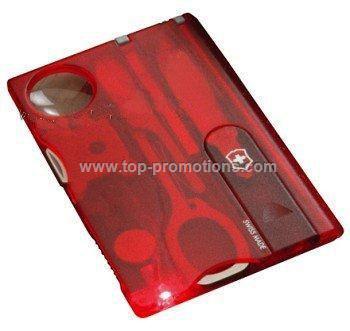 Swisslite card red