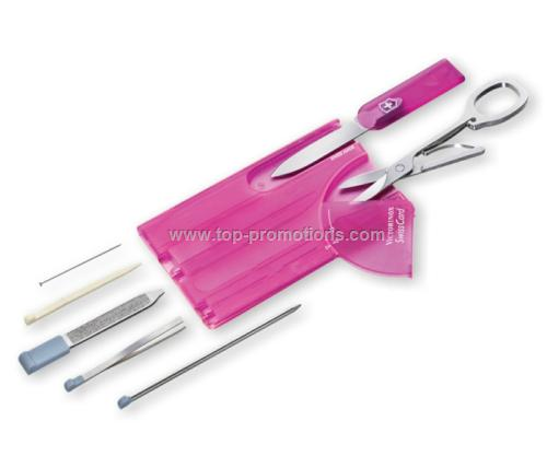 Translucent Pink Swisscard Multi-tool