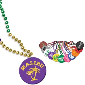 Custom Decorated Mardi Gras Beads