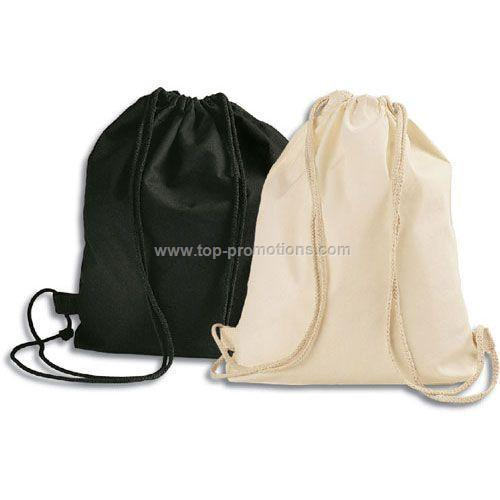 The Eco-Track Cotton Drawstring Backpack