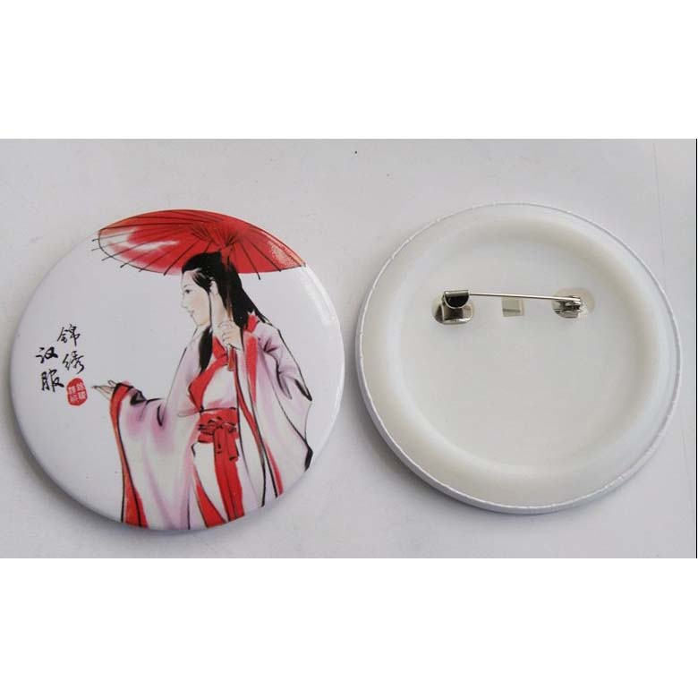 BUTTON Badges with Plastic back
