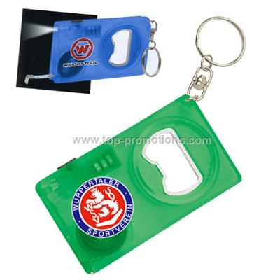 3 in 1 Bottle Opener with LED Light